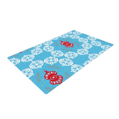 Miranda Mol Frosted Holiday Blue/White Area Rug