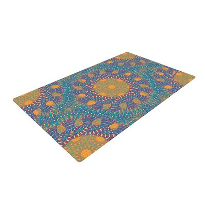 Miranda Mol Prismatic Abstract Orange/Blue Area Rug Rug Size: 4 x 6