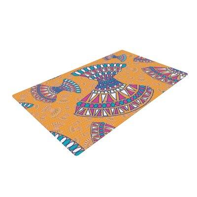Miranda Mol Tribal Fun Abstract Orange Area Rug Rug Size: 2 x 3