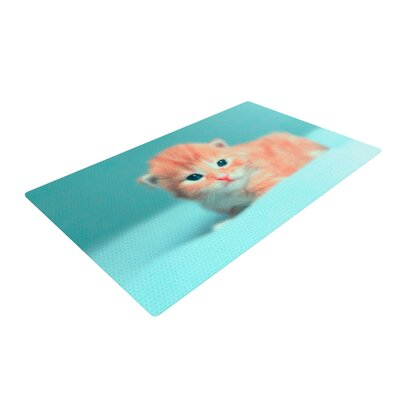 Monika Strigel Dreamcat Orange/Blue Area Rug