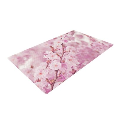 Monika Strigel Endless Cherry Floral Pink Area Rug