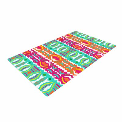 Miranda Mol Ethnic Summer Green/Orange Area Rug