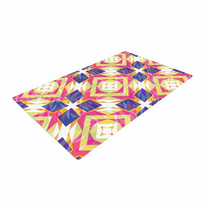 Miranda Mol Dancing Tiles Indigo/Pink Area Rug