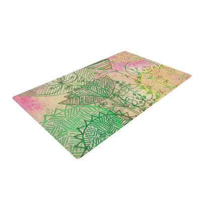 Marianna Tankelevich Dream Pink/Green Area Rug Rug Size: 2 x 3