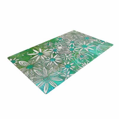 Marianna Tankelevich Spring Daisies Green/White Area Rug