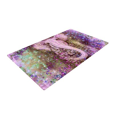 Marianna Tankelevich Dust Magic Elephant Sparkle Pink Area Rug