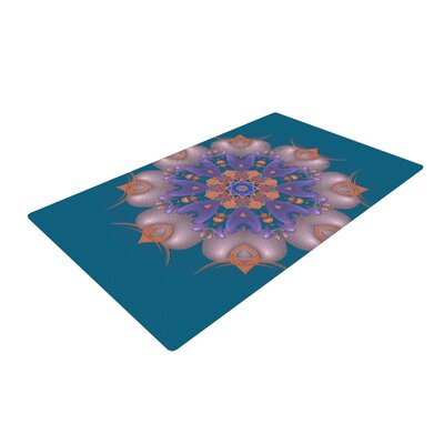Michael Sussna Whisker Lily Orange/Teal Area Rug