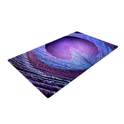 Monika Strigel Peacock Purple Area Rug