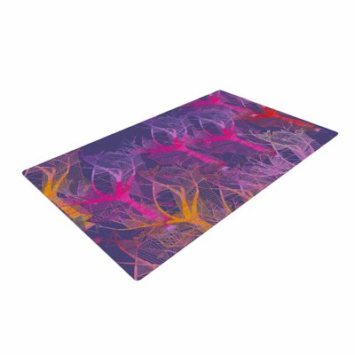 Marianna Tankelevich Colorful Trees Abstract Purple Area Rug
