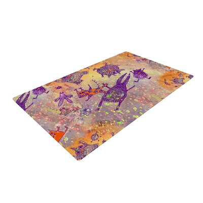 Marianna Tankelevich Levitating Monsters Orange/Purple Area Rug Rug Size: 2 x 3