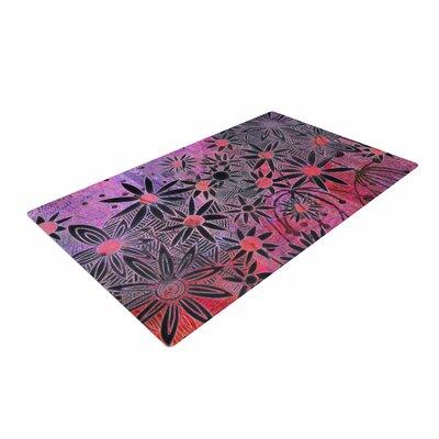 Marianna Tankelevich Flowers Pink/Purple/Black Area Rug