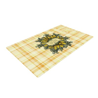 Nick Atkinson Sunflower Sunshine Yellow/Gold Area Rug Rug Size: 2 x 3