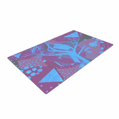 Marianna Tankelevich Dancing Shapes Purple/Blue Area Rug Rug Size: 2 x 3