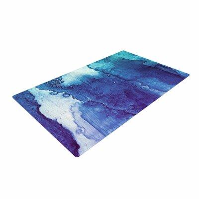 Malia Shields Blues Abstract Series 1 Green/Teal Area Rug
