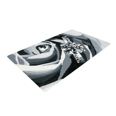 NL Designs Happy Engagement Gray/White Area Rug Rug Size: 2 x 3