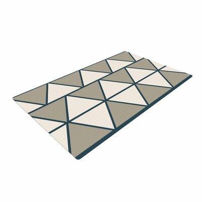 NL designs Sandstone Triangles Geometric Beige Area Rug