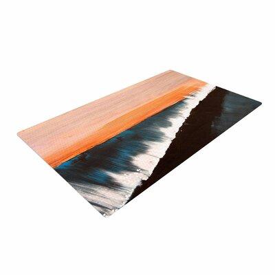 Nathan Gibbs Clean Slate Blue/Orange Area Rug