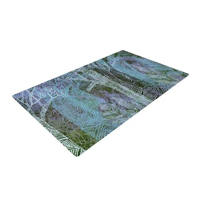 Marianna Tankelevich Wild Forest Trees Blue Area Rug Rug Size: 4 x 6