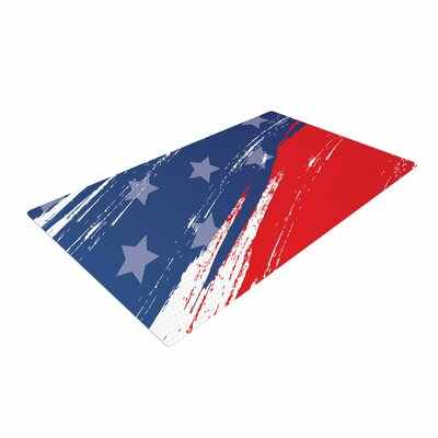 NL designs Red White Blue Red/White Area Rug