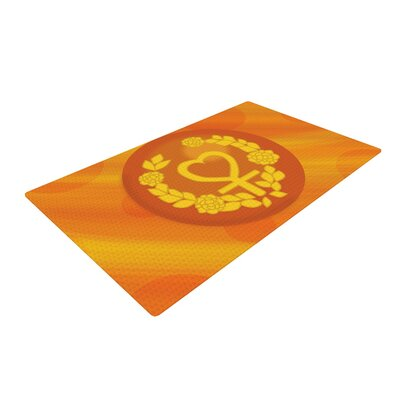 NL Designs Venus Orange/Yellow Area Rug Rug Size: 4 x 6