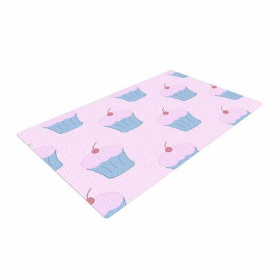 NL Designs Cupcakes Blue/Pink Area Rug Rug Size: 2 x 3