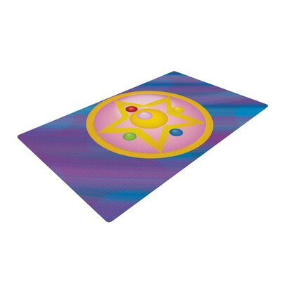 NL Designs Moon Purple/Blue Area Rug Rug Size: 2 x 3