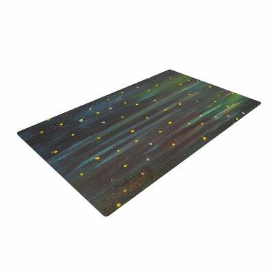 NL Designs Star Fields Blue/Green Area Rug