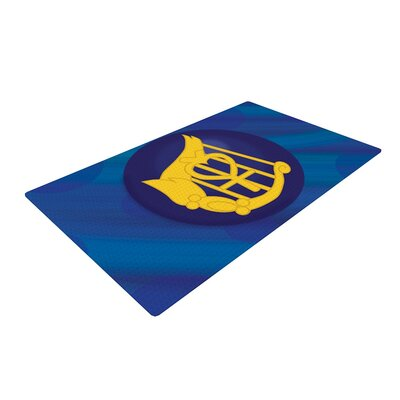 NL Designs Mercury Blue/Navy Area Rug Rug Size: 2 x 3