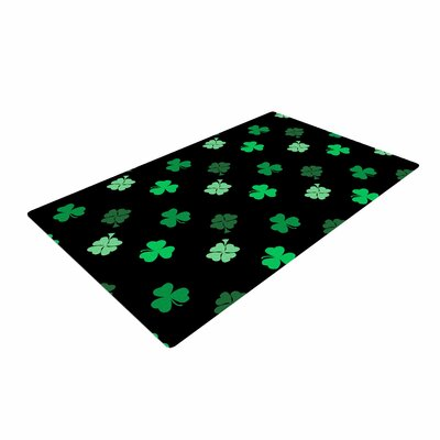 NL Designs Shamrocks Holiday Green Area Rug