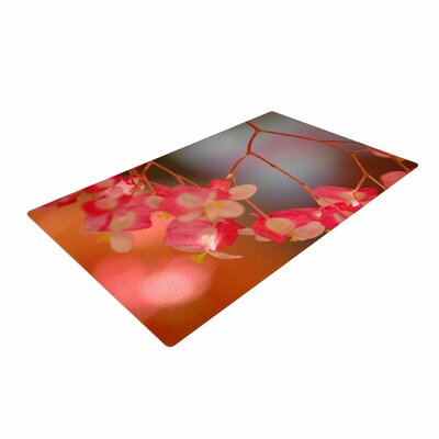 NL Designs Hanging Flowers Floral Pink Area Rug