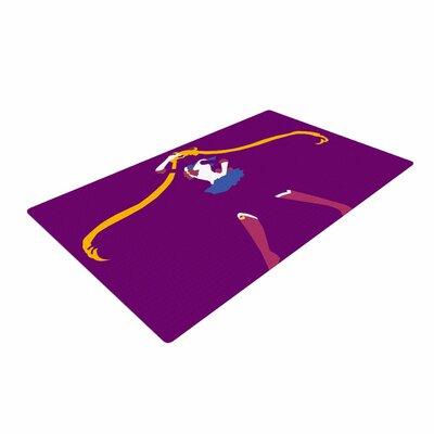 NL Designs Moon Senshi Digital Pop Art Purple Area Rug