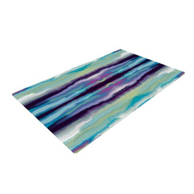 Nina May Artik Stripe Blue/Green Area Rug Rug Size: 4 x 6