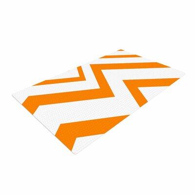NL Designs ZigZag Orange Tangerine/White Area Rug
