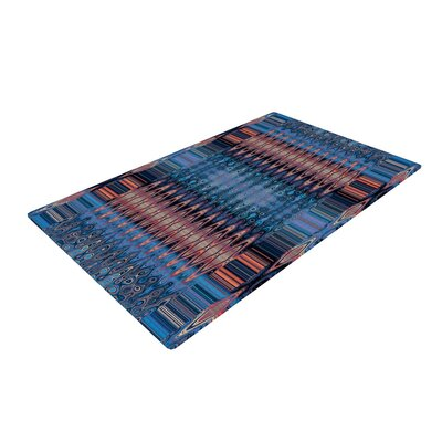 Nina May Larina Nueva Sky Blue/Orange Area Rug Rug Size: 4 x 6
