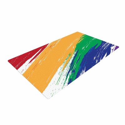 NL designs Rainbow Paint Illustration Multicolor Area Rug