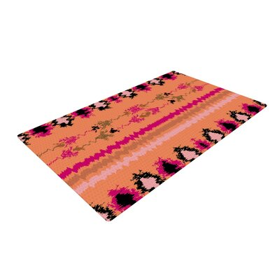 Nina May Peachy Nava Tribal Orange Area Rug Rug Size: 2 x 3