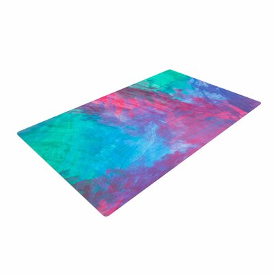 NL Designs Bold Choice Painting Teal Area Rug