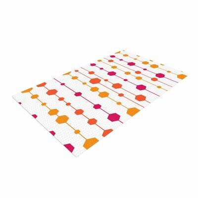 NL Designs Warm Dots Pattern White Area Rug