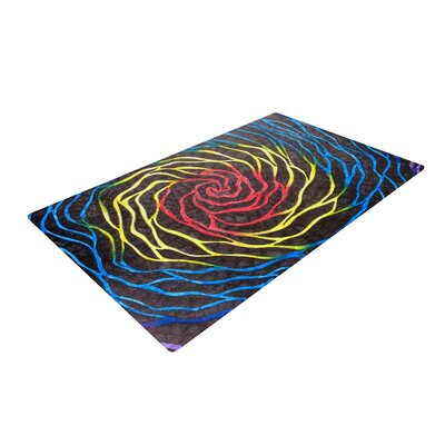 NL Designs Rainbow Vortex Illustration Red/Blue Area Rug Rug Size: 2 x 3