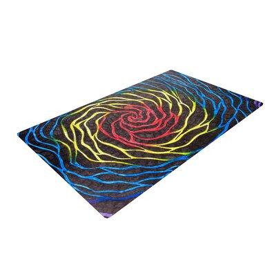 NL Designs Rainbow Vortex Illustration Red/Blue Area Rug Rug Size: 4 x 6