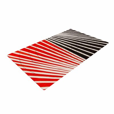 NL Designs Optical Illusions Red/Black Area Rug
