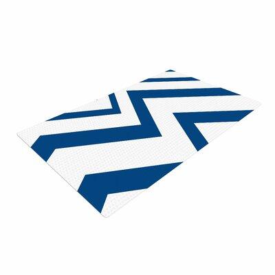 NL Designs ZigZag Blue/White Area Rug