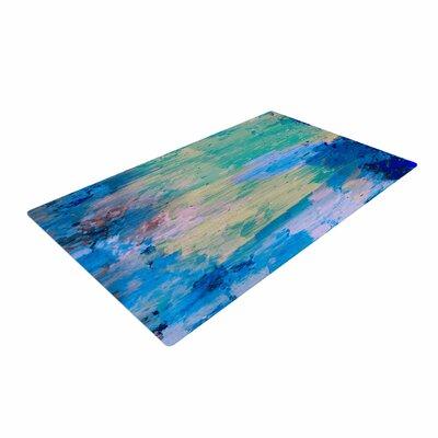 Nina May Mineral Surf Abstract Blue Area Rug