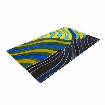 NL Designs Desert Waves Yellow/Blue Area Rug