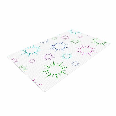 NL Designs Rainbow Fireworks Pattern Multicolor Area Rug