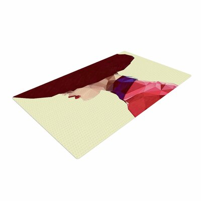 Mayka LenoVa Chic Hat Illustration Red Area Rug Rug Size: 4 x 6