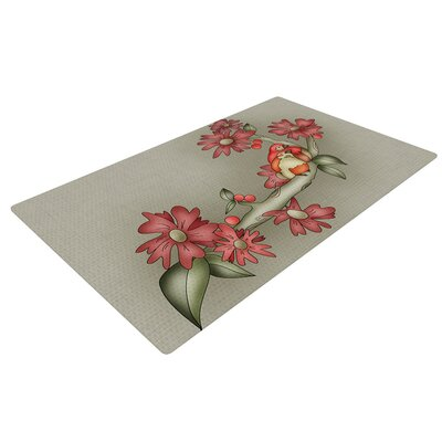 Carina Povarchik Feng Shui Red/Brown Area Rug