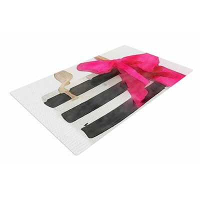Oriana Cordero French Outing Black/Pink Area Rug