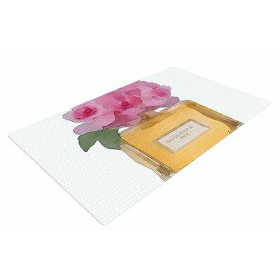 Oriana Cordero Eau De Parfum V3 Pink/Gold Area Rug Rug Size: 4 x 6