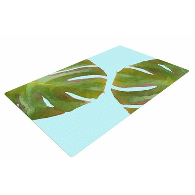 Oriana Cordero Tropico V2 Aqua/Green Area Rug